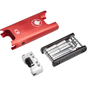 Crankbrothers F15 Canada Edition Multitool, red/silver